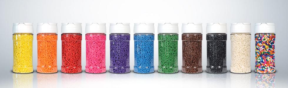 colored sprinkles jimmies rainbow