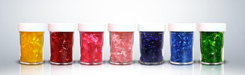colored edible glitter cake flakes rainbow