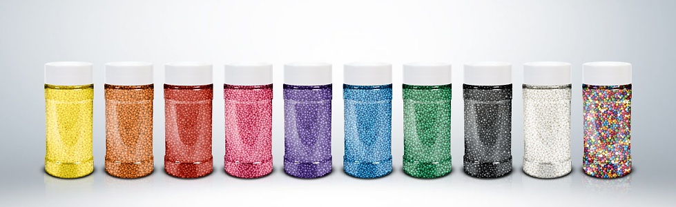 coored nonpareils rainbow caviar