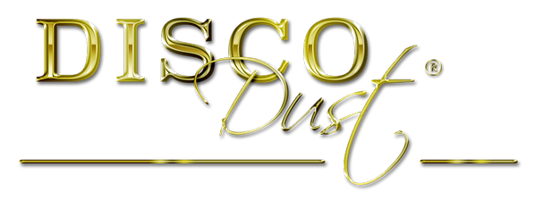 disco dust glitter colored sparkle decoration logo