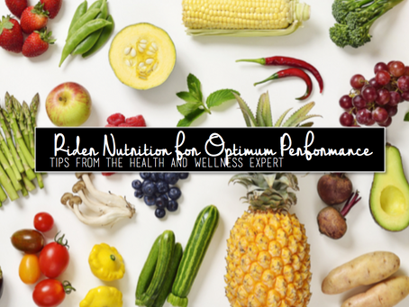 Rider Nutrition for Optimum Performance