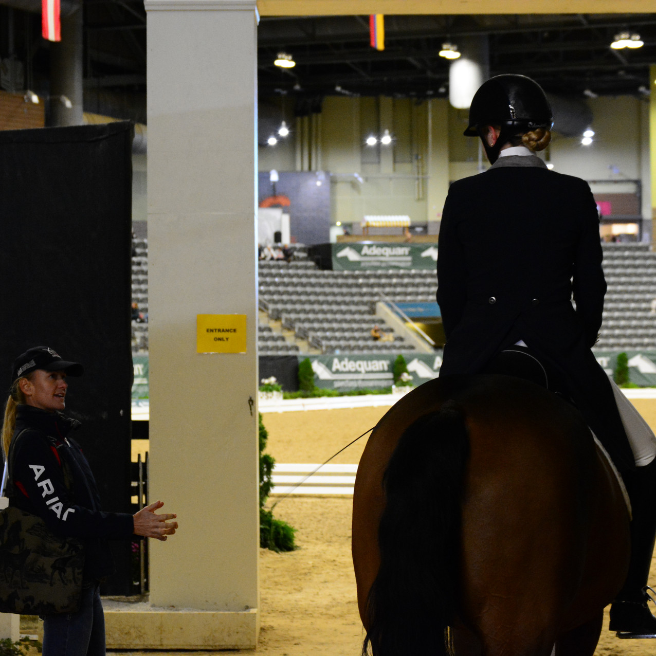 """Probably telling me to """"be there, halt square, control that mare."""""""