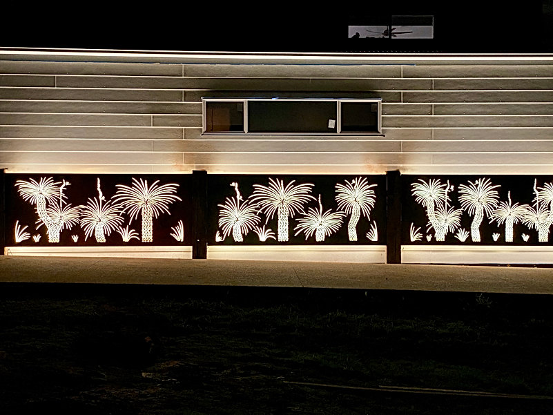 garden lighting adelaide laser cut scree