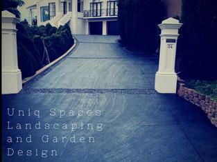 concrete driveway uniq spaces adelaide