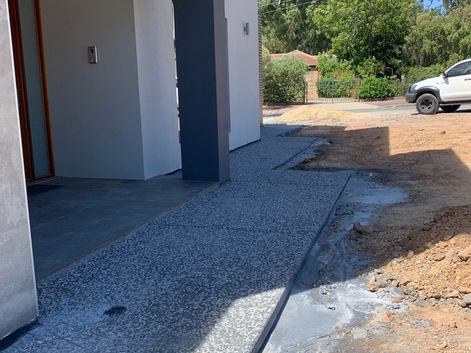 exposed aggregate concrete adelaide uniq