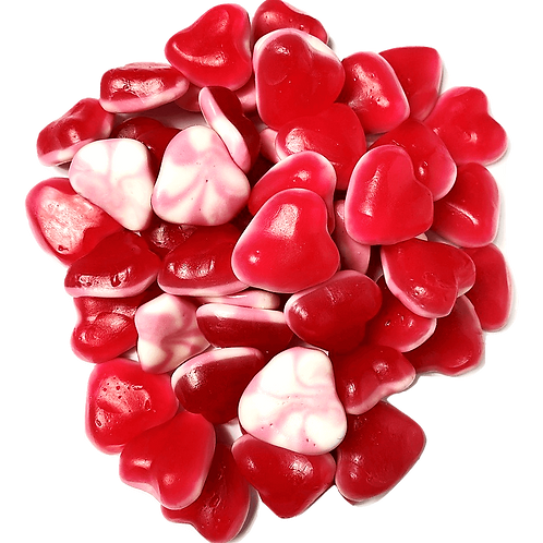 Red & White Hearts
