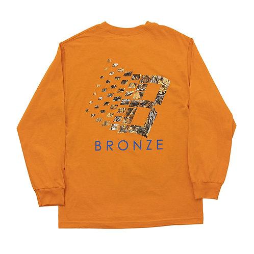 Bronze: B Logo Hunter Tree L/S Tee