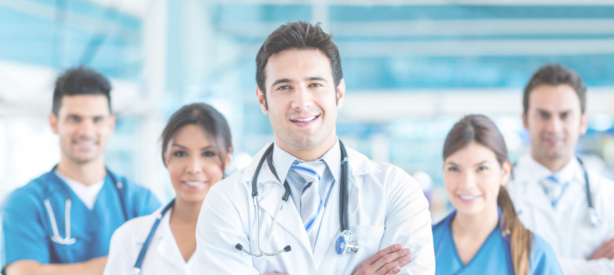 Une équipe médicale à proximité