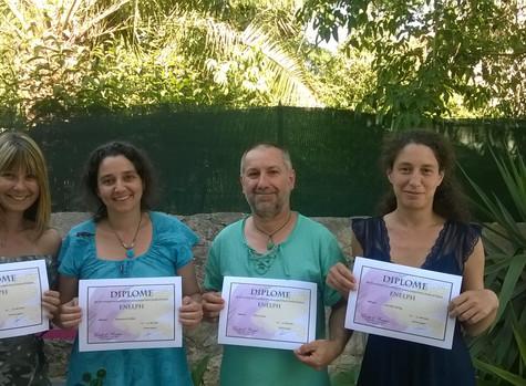Bravo et félicitations, Laureline, Thierry, Marianne, Christine pour cette merveilleuse formation En