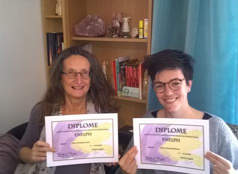 Félicitations à Marie-Dominique et Marine