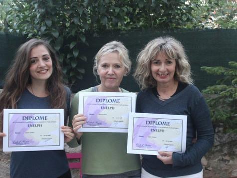 Félicitations Sarah , Patricia et Agnès pour votre formation à la Méthode Enelph.