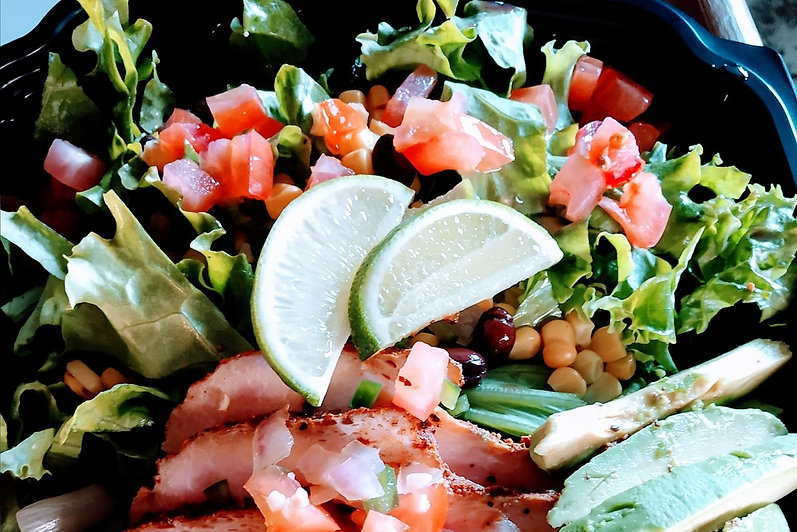 tex mex salad with lime at eddie joes