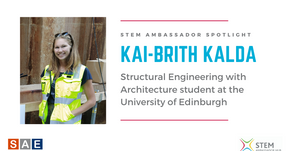 Spotlight: Kai-Brith Kalda, Structural Engineering student at the University of Edinburgh