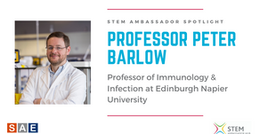 Spotlight: Prof. Peter Barlow, Professor of Immunology & Infection at Edinburgh Napier University