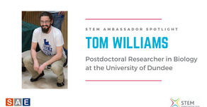 Spotlight: Tom Williams, Postdoctoral Researcher in Biology at the University of Dundee