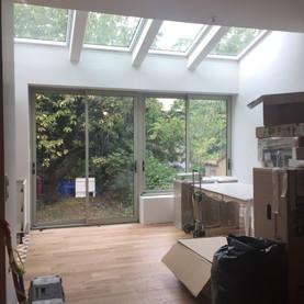 Extension - toit vitré
