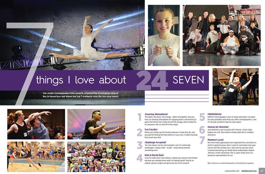 Dance Magazine -  2 pg feat.