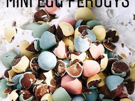 Coming for Easter our Cadbury Egg Cheesecake Perogy