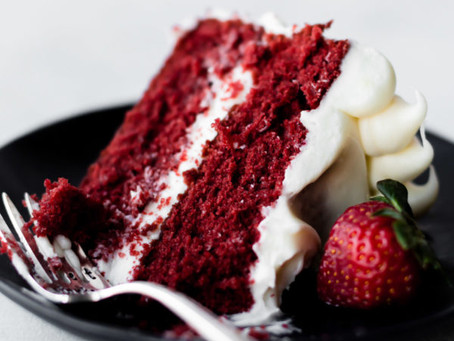 Red Velvet Perogy with Viv's Award Winning Polish Cheesecake