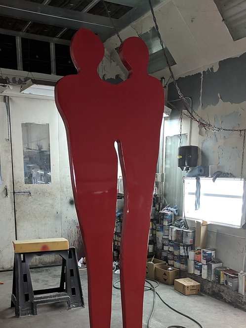 Couple 8 Feet Tall Stainless Steel