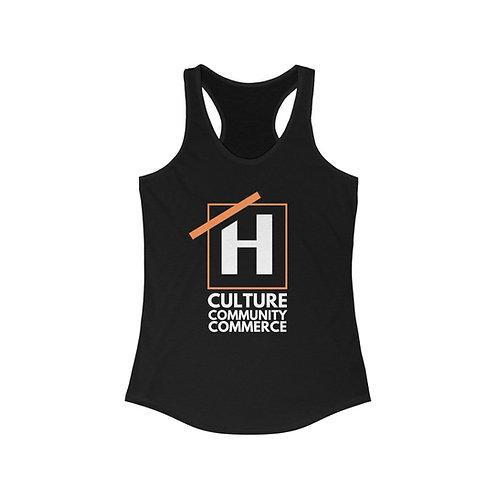 Culture Community Commerce Women's Racerback Tank