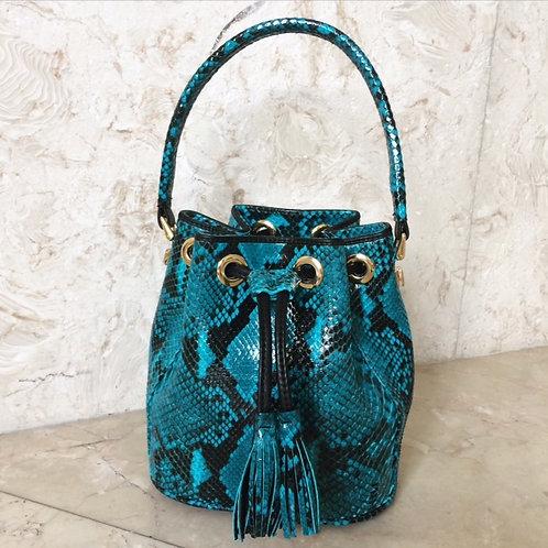 Chrystal Blue Phyton Bag