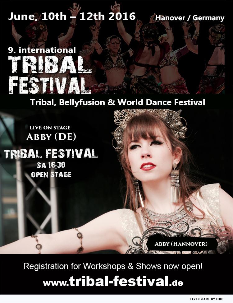 Flyer Tribal Festival 2016 Abby