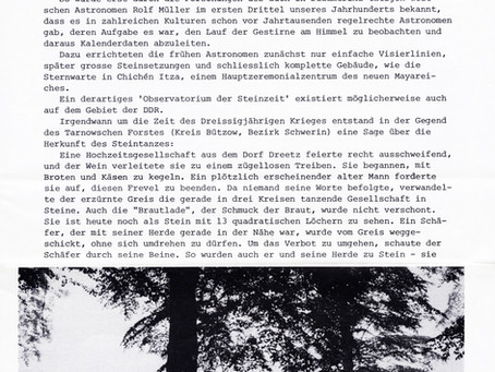 Der Boitiner Steintanz in Ancient Skies 6 1982