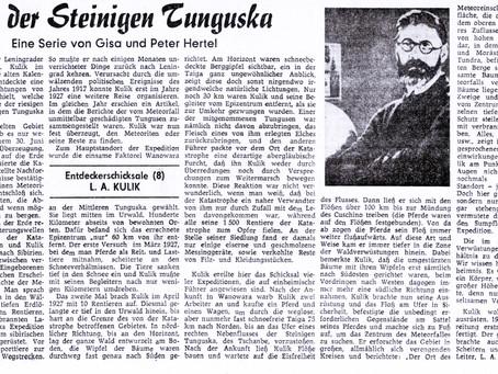 Kulik und die Tunguska-Katastrophe