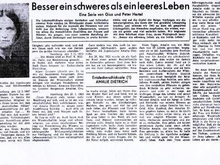 Amalie Dietrich, Siebenlehner Botanikerin Entdeckerschicksale (1)