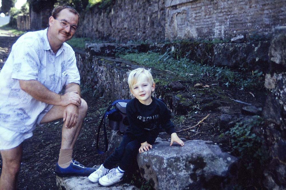 Mit Schriftstellerkollege Tim Gernitz in Pompeji