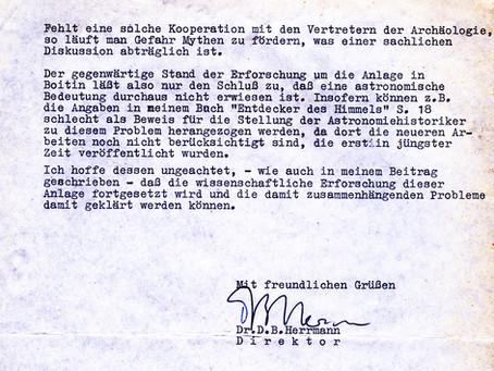Boitin: Stellungnahme von Dr. D. B. Herrmann