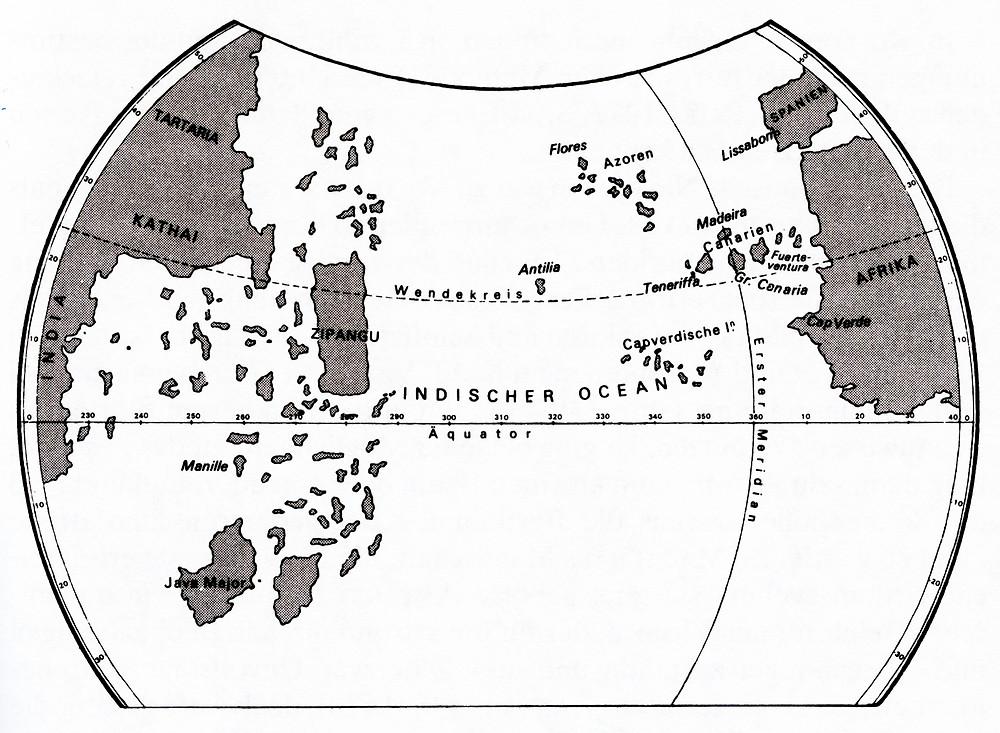 Mit der Karte des Toscanelli im Gepäck gelangte Columbus nach Amerika, aber woher hatte Toscanelli sein Wissen?