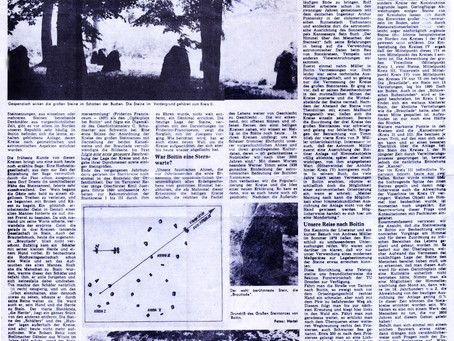 Der Boitiner Steintanz in der Schweriner Volkszeitung