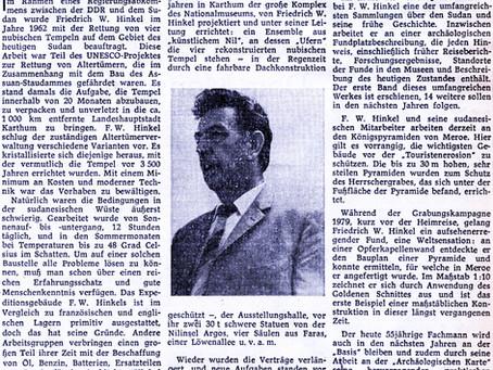 Friedrich Hinkel wusste, wie Schwerlasten vor langer Zeit transportiert wurden