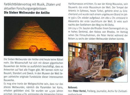 Werbung für URANIA-Vortrag in Dresden