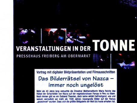 Nazca-Vortrag in Freiberg