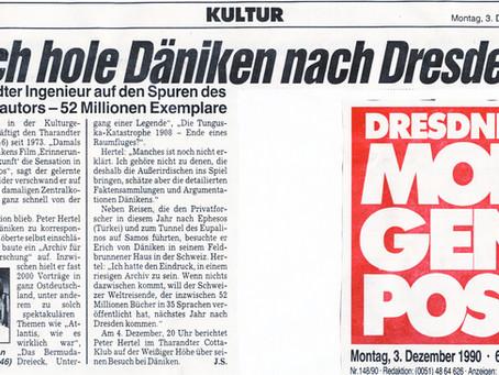 Peter Hertel holt Däniken nach Dresden