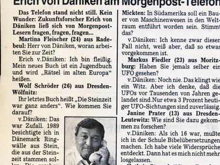 Erich von Däniken in Dresden