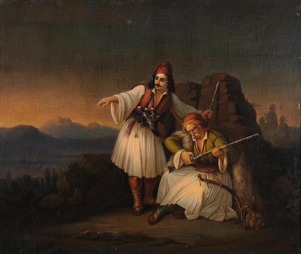 Δύο Πολεμιστές, Θεόδωρος Βρυζάκης - 1855, Εθνική Πινακοθήκη