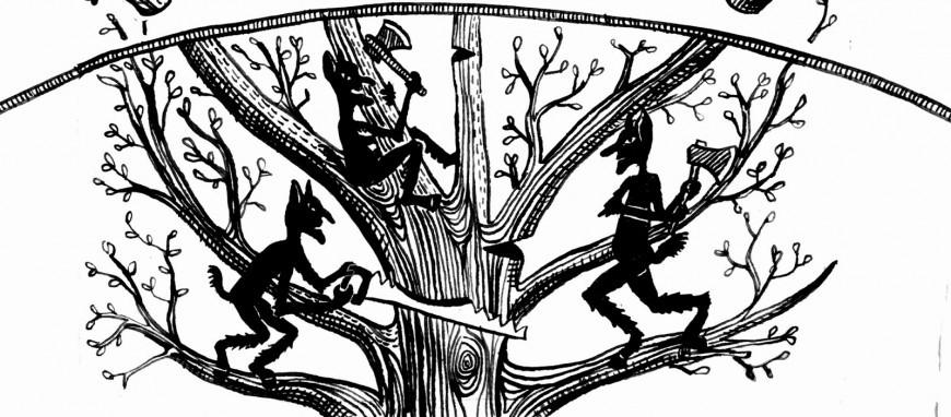 καλικάντζαροι και το κόψιμο του δέντρου της ζωής