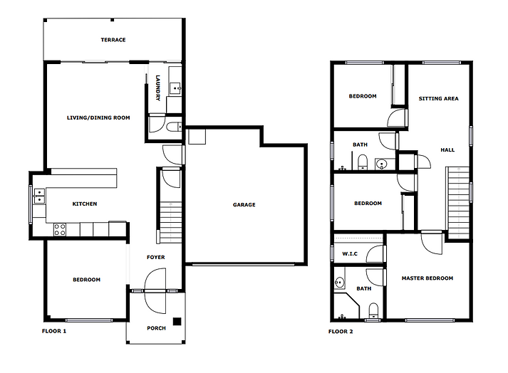 2D Floor Plan Real Estate Photography