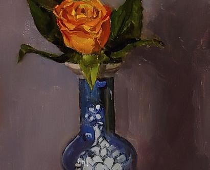 Bud Vase and Spray Rose