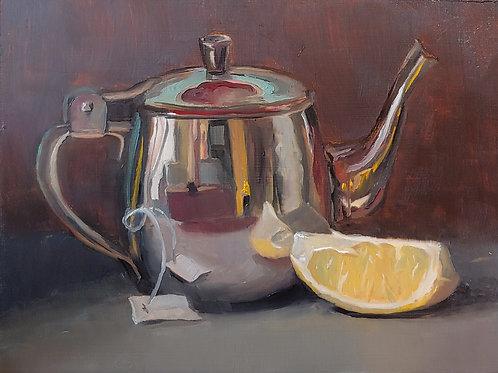 Tea Pot With Lemon