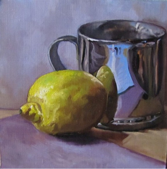 Lemon and Silver Cup