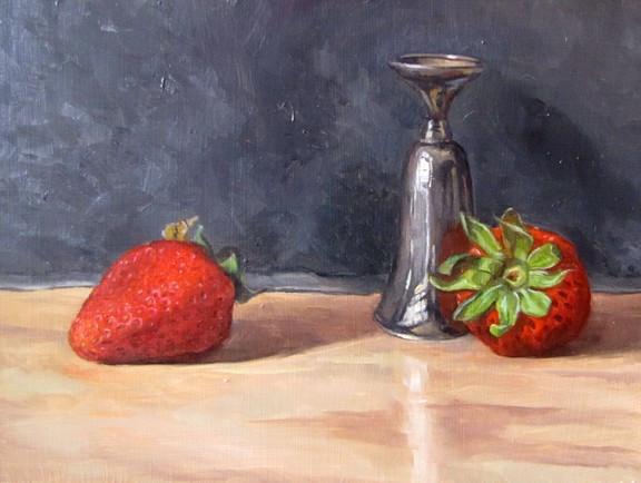 Strawberries and Shot Glass