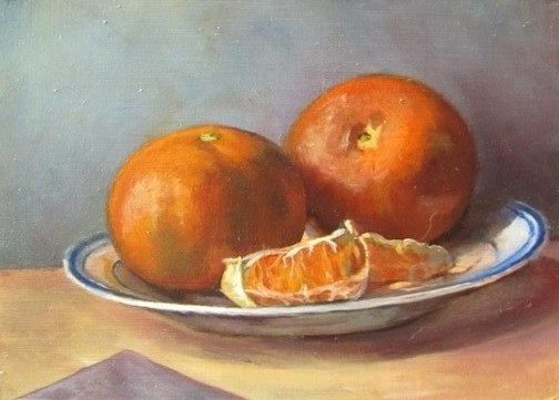 Clementines and Plate