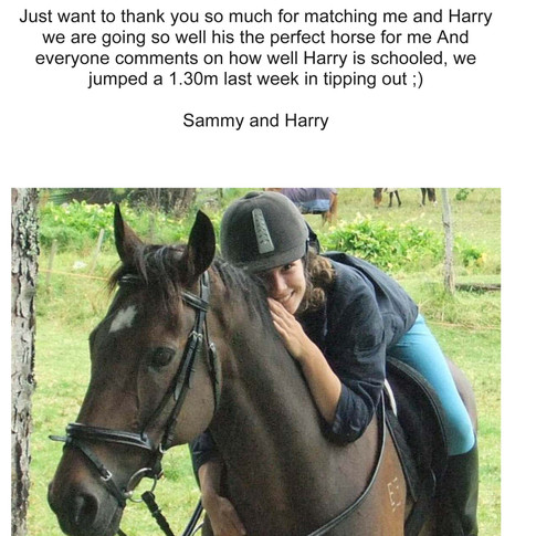 Harry and his new owner Sammy