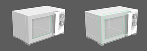 Images showing two ways of pre-mid-poly modelling.