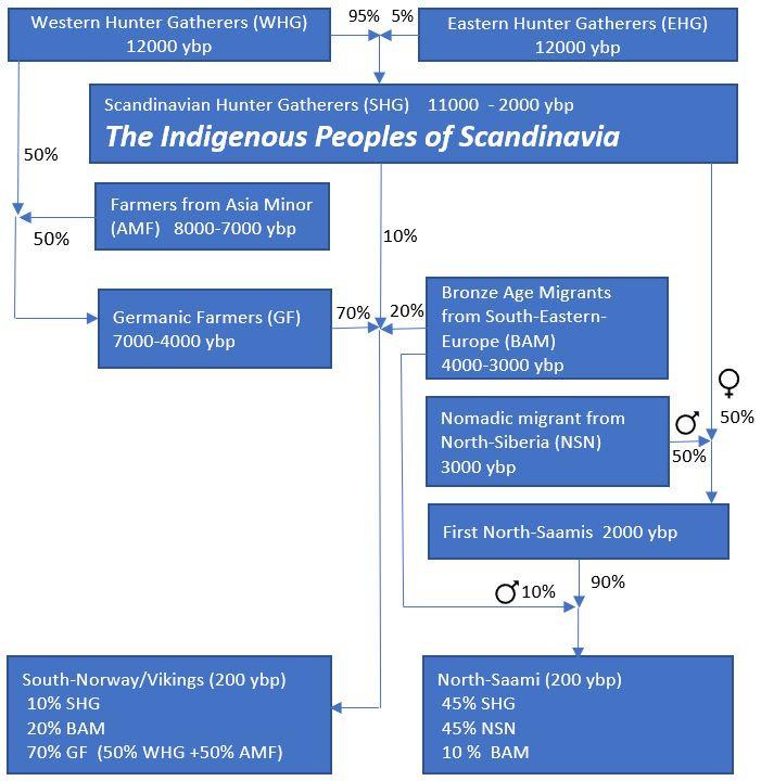 sjøsasmer, urbefolking, indigenous, Samer, Saami, ancient DNA, ancient human migrations, Saami DNA, Saami origin, Saami genetnic origin